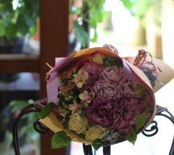 画像1: 花束-パープル系